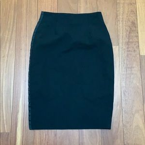 DOLCE GABBANA side snap pencil skirt 0
